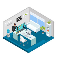 Isometric modern technology concept vector
