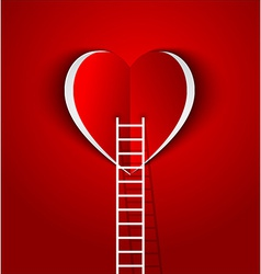 Ladder to your heart greeting card vector