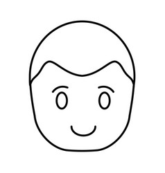 Man face icon vector