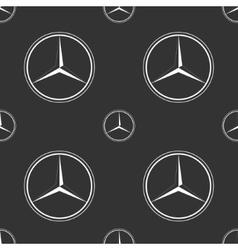 Mercedes Benz emblem on dark grey background vector