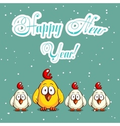 Merry Christmas Chicks vector image