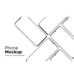 Modern frameless smartphone mockup vector