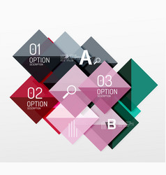 Modern square composition abstract banner vector