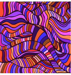 Motley bizare abstract waves line pattern doodle vector