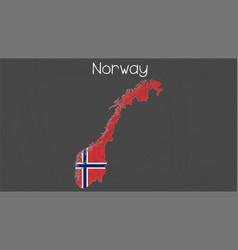 Norway map-flag vector