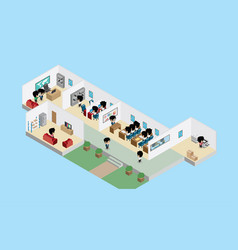 office interior with businessmen business concept vector image