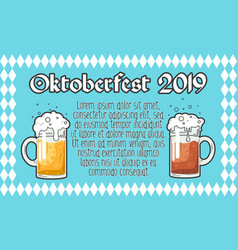 oktoberfest typography design for greeting vector image