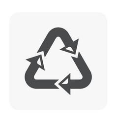 Packaging symbol black vector