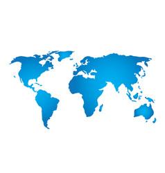 planet map satillite view for logo design globe vector image