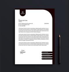professional corporate business letterhead vector image