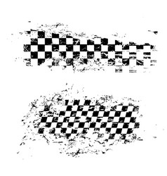 race flag grunge pattern sports symbol vector image