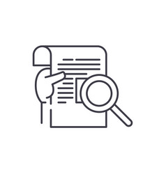 research report line icon concept research report vector image