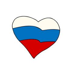 russia heart patriotic symbol vector image