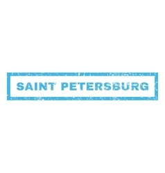 Saint Petersburg Rubber Stamp vector