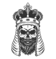 skull in judge wig vector image