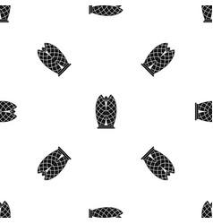 skyscraper pattern seamless black vector image vector image