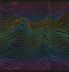 spectrum seamless lines with grunge effect vector image
