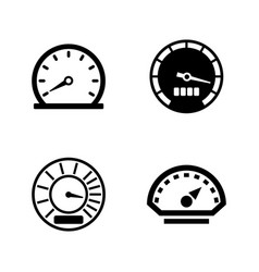 Speedometer simple related icons vector