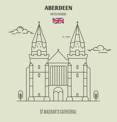 st machars cathedral in aberdeen vector image