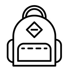 Student backpack icon outline style vector