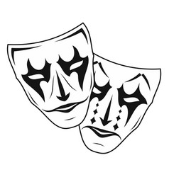 Theatrical mask 3 vector