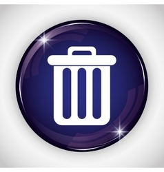 Trash button icon Social media design vector
