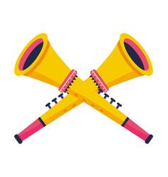 Trumpet musical instruments vector