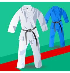 Two kimono for judo vector