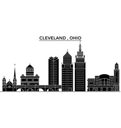 Usa ohio cleveland architecture city vector