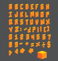 Vector Abc boxes vector