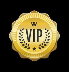 Vip golden label premium medal vector