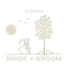 wedding card templates vector image