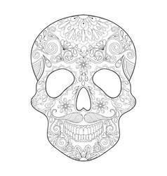 Zentangle stylized Skull for Halloween Freehand vector image