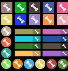 Domino icon sign set from twenty seven vector