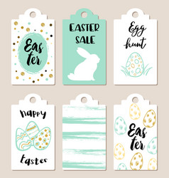 easter tags for holiday sale vector image