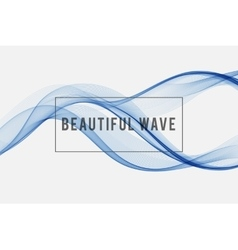 Beautiful wave Background vector image vector image