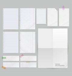 group of paper background vector image vector image
