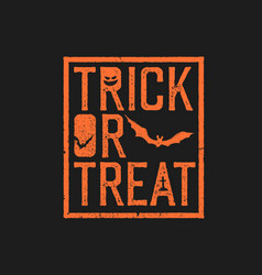 happy halloween logotype grunge stamp letters and vector image