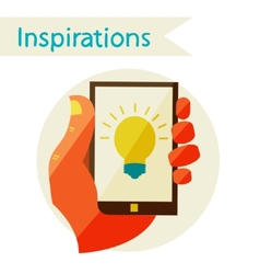 Creative concept with Inspirations vector image vector image