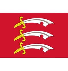 Flag of Essex vector image