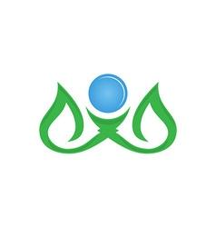 Leaf logo design eco-friendly concept vector