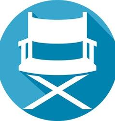 Movie Director Chair Icon vector image vector image