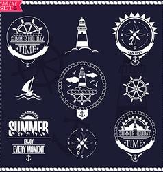 Set of vintage marine logos logotypes and badges vector image