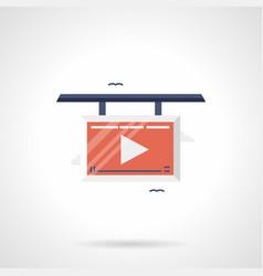 Advertising videos flat color icon vector
