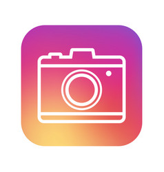 camera icon in trendy style on white background vector image