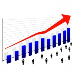 graph with people vector image