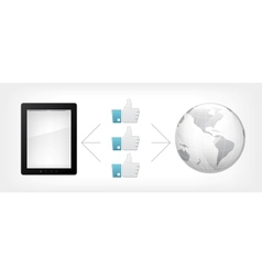 like concept tablet pc vector image vector image