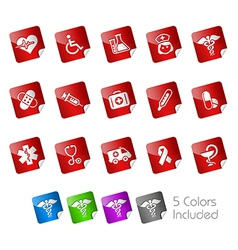 Medicine Health Care Stickers vector image vector image