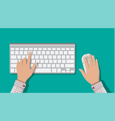 modern computer keyboard and mouse vector image vector image