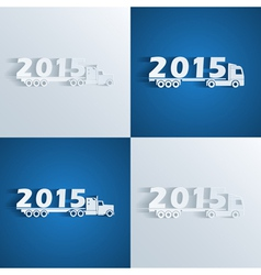 new year trucks vector image vector image